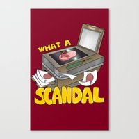 scandal Canvas Prints featuring Scandal by MinaLotToMe