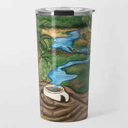 River landscape in a Coffee Cup- Pheasant Branch Conservancy Travel Mug