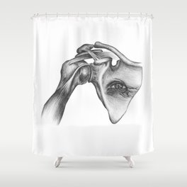 There's no right way to do this because it's already wrong Shower Curtain