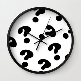 Bold Question Marks Wall Clock