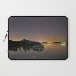 The Big star Sirius the Costelation of Orion and Taurus  reflected at the lake Laptop Sleeve