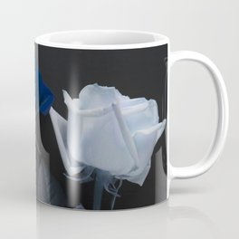 Blue roses on black Coffee Mug