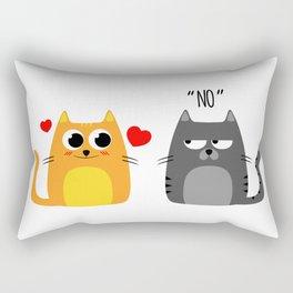 Disappointing relationship Rectangular Pillow