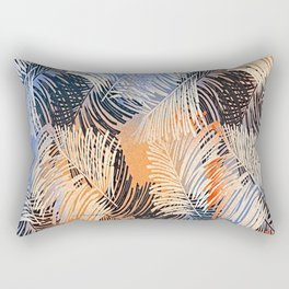 Palm Leaves By Annie Zeno Rectangular Pillow