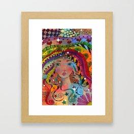Whimiscal Art Girl Framed Art Print