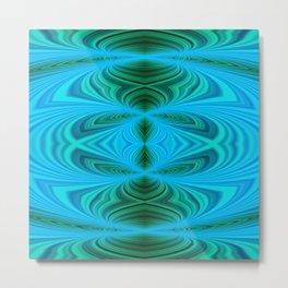 Green blue kaleidoscope 1 Metal Print