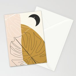 Monstera Abstract Stationery Cards