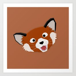 Red Panda Face Art Print