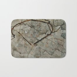 Autumn Tree in Stirred Air (Winter Tree) by Egon Schiele Bath Mat