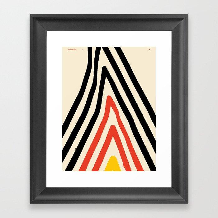Goodbye Mountain — Matthew Korbel-Bowers Framed Art Print