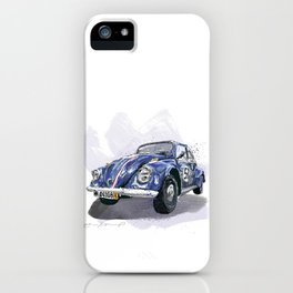 Blue old Car iPhone Case