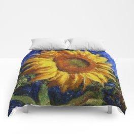 Sunflower In Van Gogh Style Comforters
