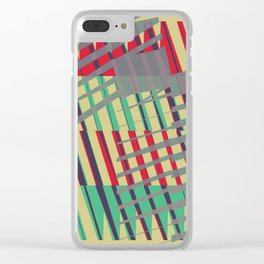 Abstract Communication Pattern Clear iPhone Case