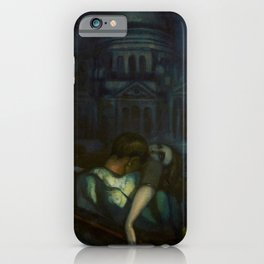 Passion, Venice Canals portrait painting by Federico Beltran Masses iPhone Case