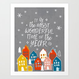 wondeful time of the year Art Print