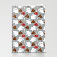 toilet Stationery Cards featuring Toilet pattern by Irmirx