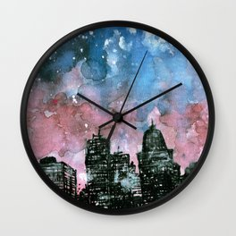 buildings architecture galaxy Wall Clock