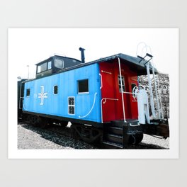 Rail Car Photography Art Print
