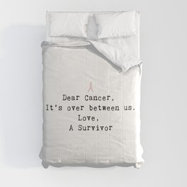 Dear Cancer (Black Type) Comforters