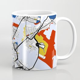 Boston Mondrian map Coffee Mug