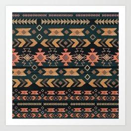 New Moon Boho Tribal Art Print