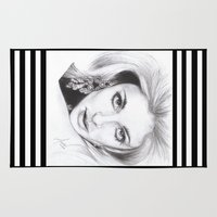 kris tate Area & Throw Rugs featuring living doll...  sharon tate. by als3