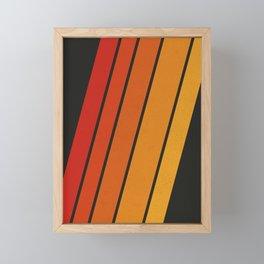Retro 70s Stripes Framed Mini Art Print