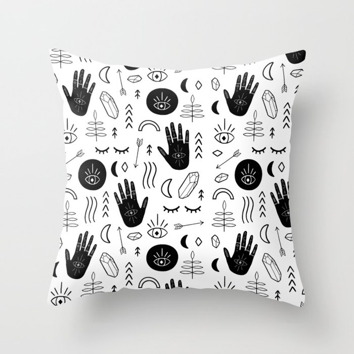 Witchy Patterns Throw Pillow