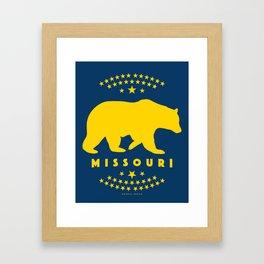 Missouri Black Bear Framed Art Print