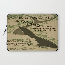 Vintage poster - Pneumonia Laptop Sleeve