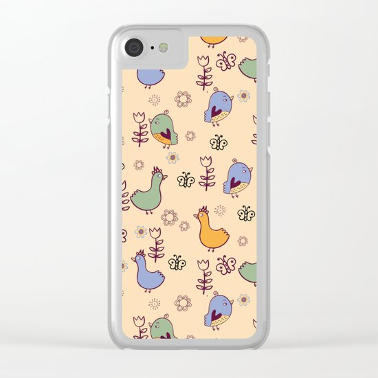 Cute Pattern #3 Clear iPhone Case