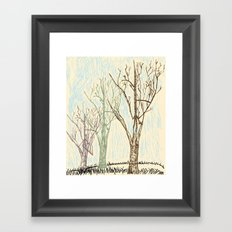 A Winters Sketch Framed Art Print