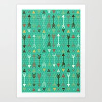 arrows Art Prints featuring Arrows by Claire Lordon