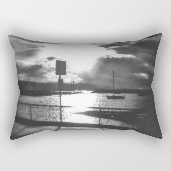 Morning awakes the Harbour Rectangular Pillow