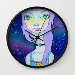Vampizza Violet Wall Clock