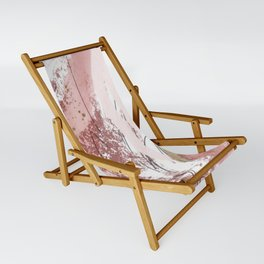 Sugar and Spice: a minimal, abstract mixed-media piece in pink and brown by Alyssa Hamilton Art Sling Chair