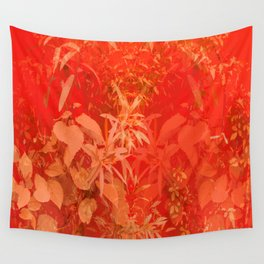 Beautiful red foliages - illustration of garden Wall Tapestry