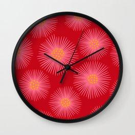 My Flowers Glow ( Red ) Wall Clock