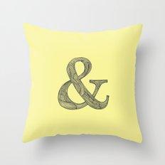 Yellow Ampersand Throw Pillow