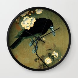 Ohara Koson - Top Quality Art - Crow and Blossom Wall Clock