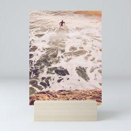 SunsetSurfing Mini Art Print