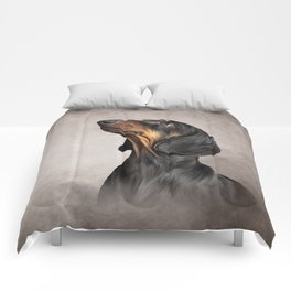 Drawing Dog breed dachshund 5 Comforters