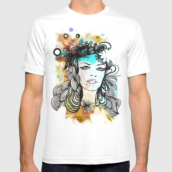 floral girl T-shirt