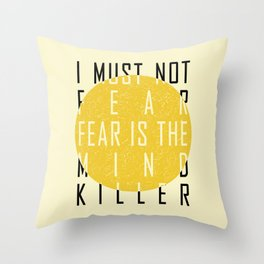 Dune - The Litany Against Fear (BLK) Throw Pillow