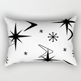 Vintage 1950s Boomerangs and Stars White Rectangular Pillow