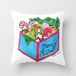 X is for Xmas Cookies Throw Pillow