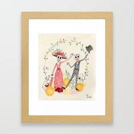 La Catrina y el Catrín Framed Art Print