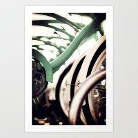 Vintage Bikes Art Print