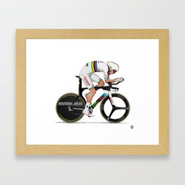 Tom Dumoulin Giro d'italia 2018 ITT wc Framed Art Print