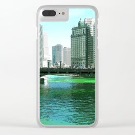 Chicago River on St. Patrick's Day #Chicago Clear iPhone Case